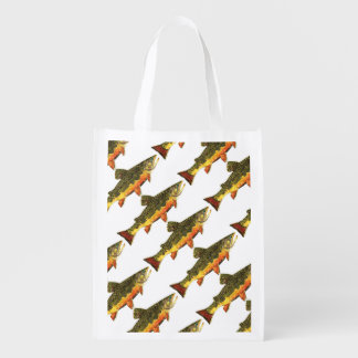 Brook Trout Fishing Market Tote