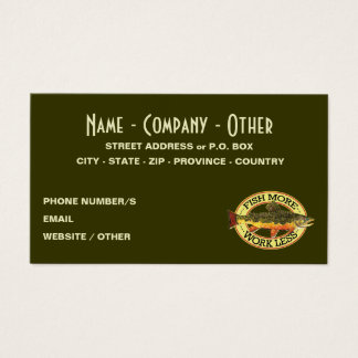 Brook Trout Fly Fisherman Business Card