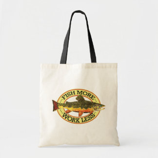 Brook Trout Fly Fisherman's Canvas Bag