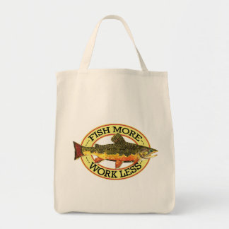 Brook Trout Fly Fisherman's Grocery Tote Bag
