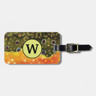 Brook Trout Fly Fisherman's Bag Tag