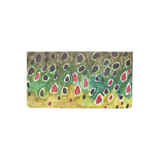 Brook Trout Fly Fisherman's Checkbook Cover
