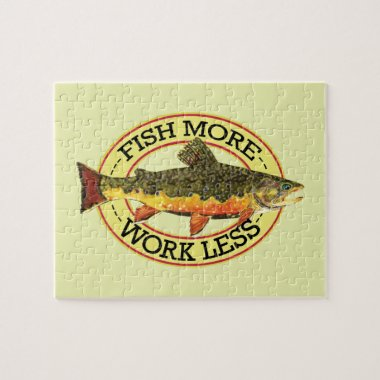 Brook Trout Fly Fisherman's Jigsaw Puzzle