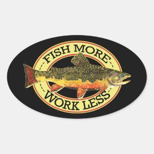 Brook Trout Fly Fisherman's Oval Sticker