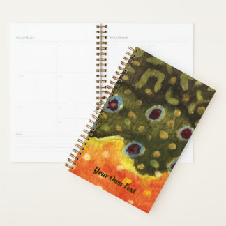 Brook Trout Fly Fishing Angler's Planner