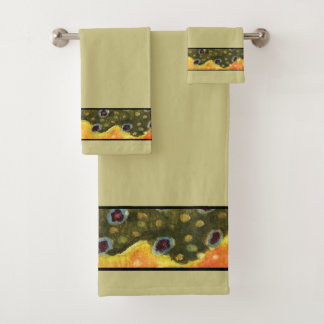 Brook Trout Fly Fishing Bath Towel Set