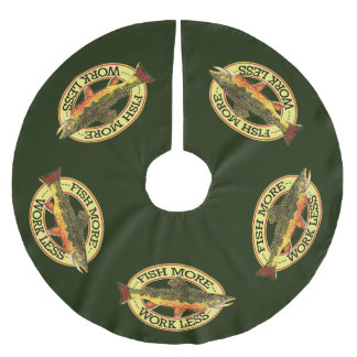 Brook Trout Fly Fishing Brushed Polyester Tree Skirt