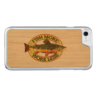 Brook Trout Fly Fishing Carved iPhone 7 Case