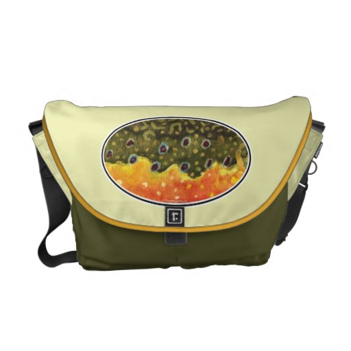 Brook Trout Fly Fishing Courier Bag