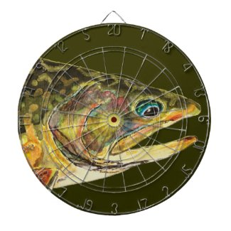 Brook Trout Fly Fishing Dartboards