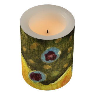 Brook Trout Fly Fishing Flameless Candle