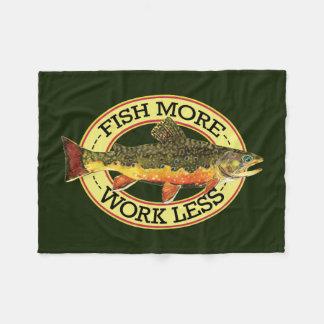 Brook Trout Fly Fishing Fleece Blanket