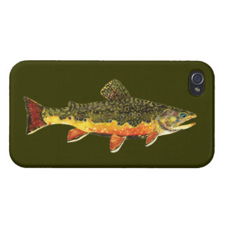 Brook Trout Fly Fishing iPhone 4 Cover