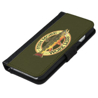 Brook Trout Fly Fishing iPhone 6/6s Wallet Case