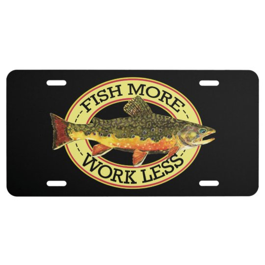 Brook Trout Fly Fishing License Plate Zazzle Com