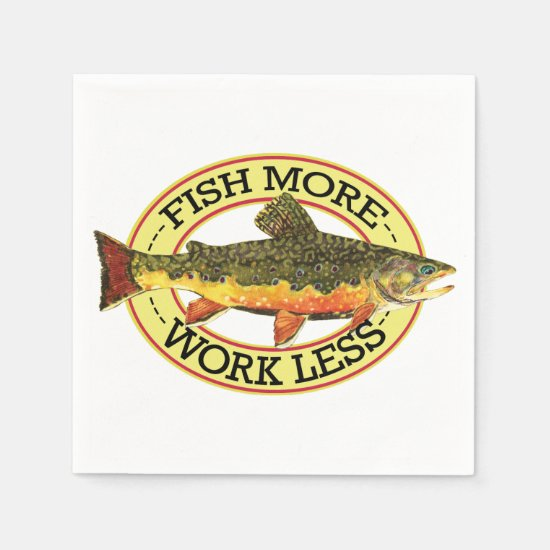 Brook Trout Fly Fishing Napkin