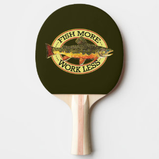 Brook Trout Fly Fishing Ping Pong Paddle