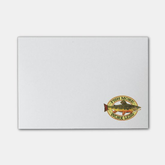 Brook Trout Fly Fishing Post-it® Notes