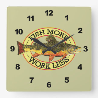 Brook Trout Fly Fishing Square Wall Clock