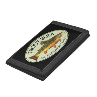 Brook Trout Fly Fishing Trifold Wallets