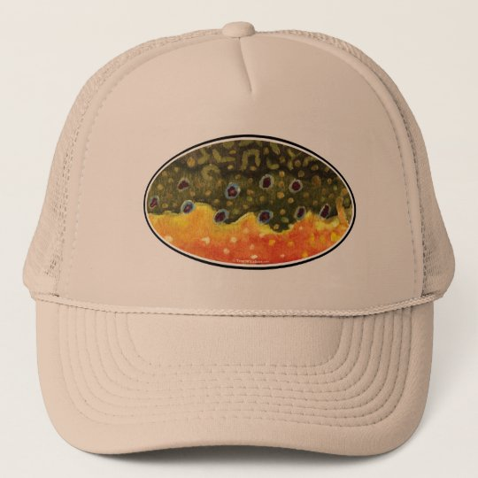 Brook Trout Fly Fishing Trucker Hat