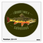 Brook Trout Fly Fishing Wall Graphic