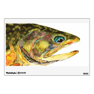 Brook Trout Fly Fishing Wall Sticker