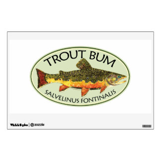 Brook Trout Fly Fishing Wall Decals