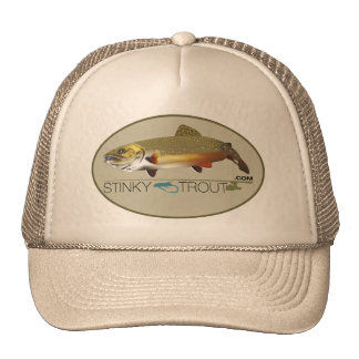 """Brook Trout Illustrated """"StinkyTrout.com"""" Cap Trucker Hat"""