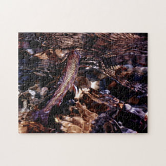 Brook Trout in River Water Jigsaw Puzzle