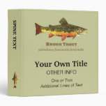 Brook Trout, Latin 3 Ring Binders