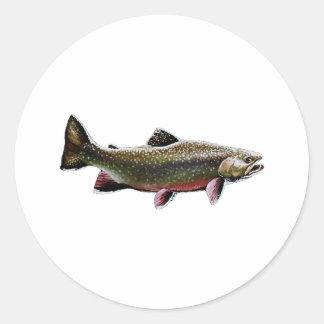 Brook Trout Logo (Swimming) Classic Round Sticker