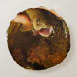 Brook trout pillow round pillow