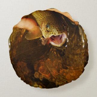 Brook trout pillow round pillow