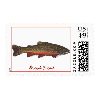 Brook Trout Postage Stamp