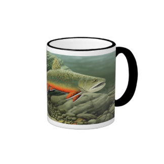 Brook Trout Ringer Coffee Mug
