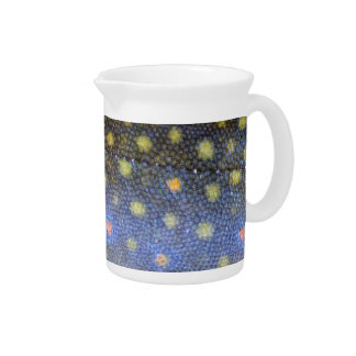 Brook Trout Scales Photography Beverage Pitcher