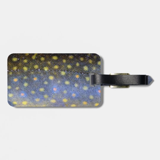 Brook Trout Scales Photography Luggage Tag