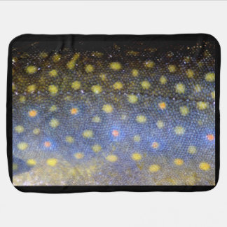 Brook Trout Scales Photography Receiving Blanket