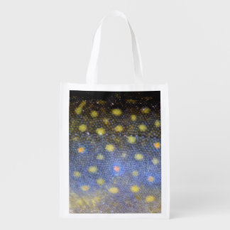 Brook Trout Scales Photography Reusable Grocery Bag