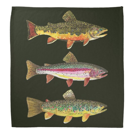 Brook Trout Sport Fishing Bandana