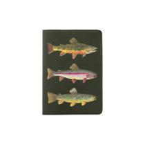 Brook Trout Sport Fishing Passport Holder