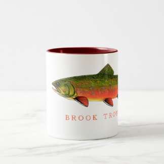 BROOK TROUT Two-Tone COFFEE MUG