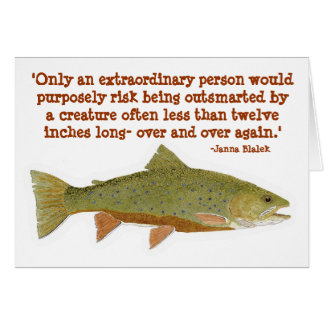 Brook Trout with humorous quote Card
