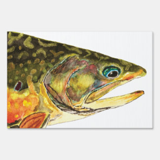 Brook Trout Yard Sign