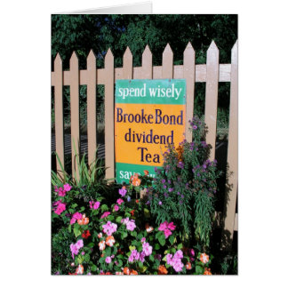 Brooke Bond tea advertising poster Card