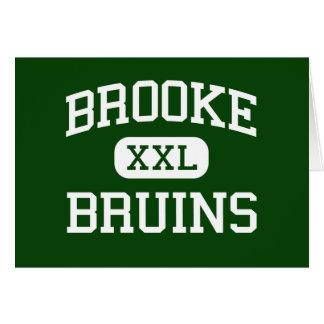 Brooke - Bruins - High - Wellsburg West Virginia Greeting Card