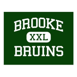 Brooke - Bruins - High - Wellsburg West Virginia Postcard
