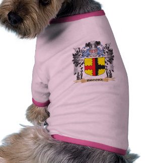 Brooke Coat of Arms - Family Crest Doggie T Shirt