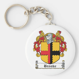 Brooke Family Crest Basic Round Button Keychain